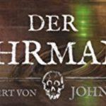 Weißer Schriftzug Der Fährmann auf dunklen Grund.