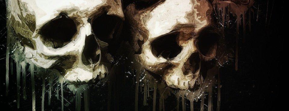 Zwei Totenschädel