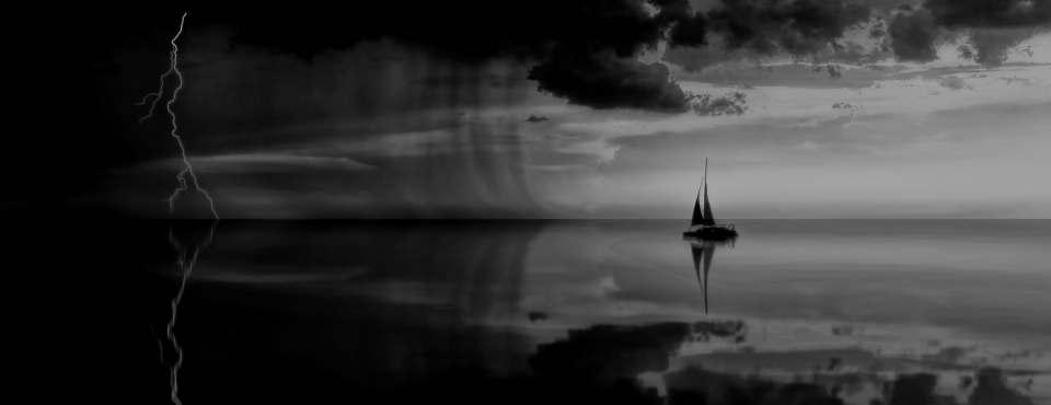 Ein Schiff im Sturm