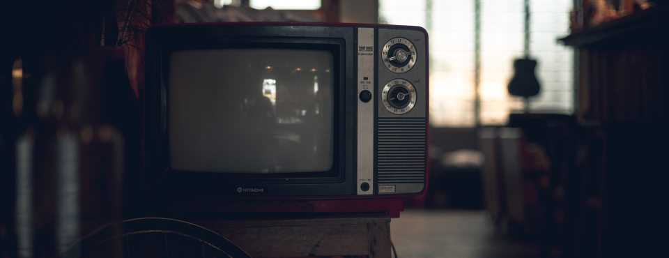 Ein alter TV.