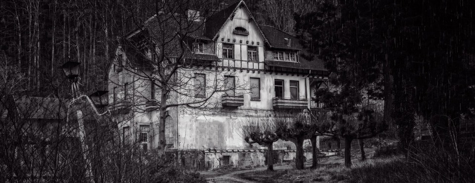Ein verlassenes altes Haus.